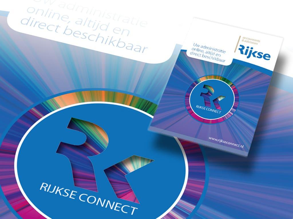Rijkse Connect Branding. Grafische vormgeving door La Dolce Vita Zeeland