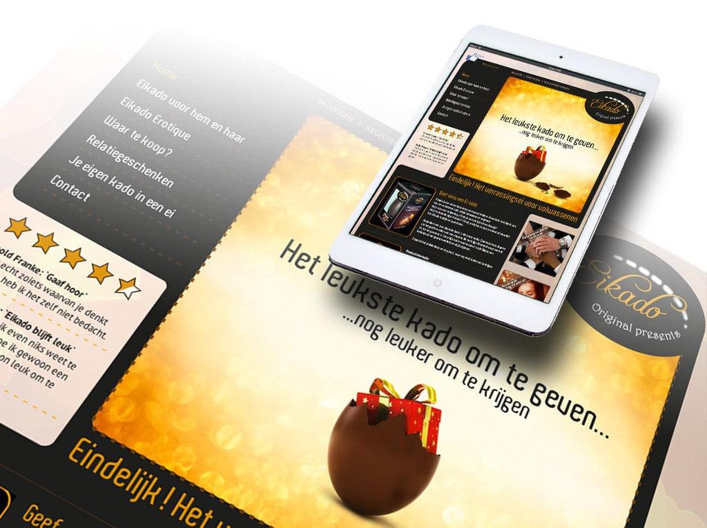 Website Eikado door La Dolce Vita Grafische Ontwerp uit Zeeland