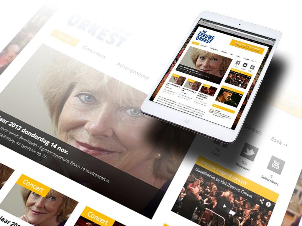 Website Zeeuws Orkest door La Dolce Vita Grafische Ontwerp en webdesign uit Zeeland