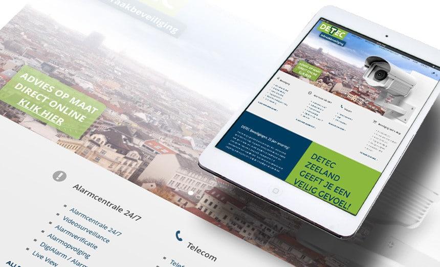 Website Detec Zeeland door La Dolce Vita Grafische Ontwerp en webdesign uit Zeeland