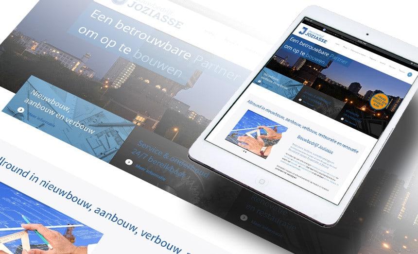 Website Bouwbedrijf Joziasse door La Dolce Vita Grafische Ontwerp en webdesign uit Zeeland