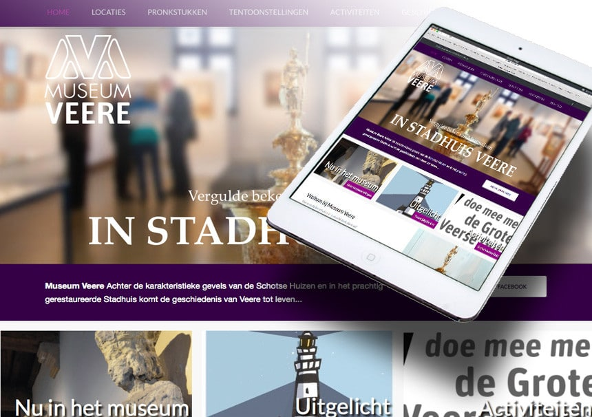 Website Zeeuws Museum. Webdesign door La Dolce Vita webdesign Zeeland