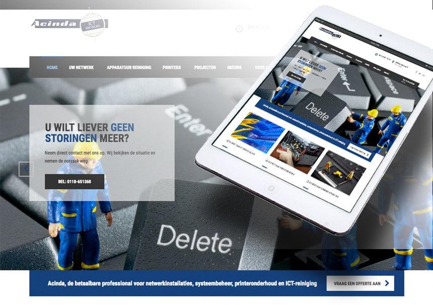 Website Acinda door La Dolce Vita Grafische Ontwerp en Markting en webdesign uit Zeeland