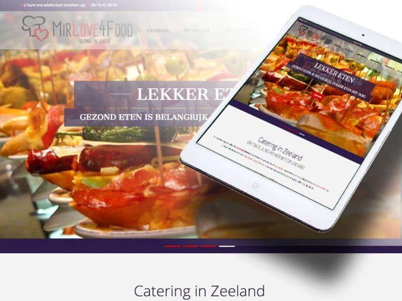 Website Mir Love 4 Food door La Dolce Vita Grafische Ontwerp en webdesign uit Zeeland
