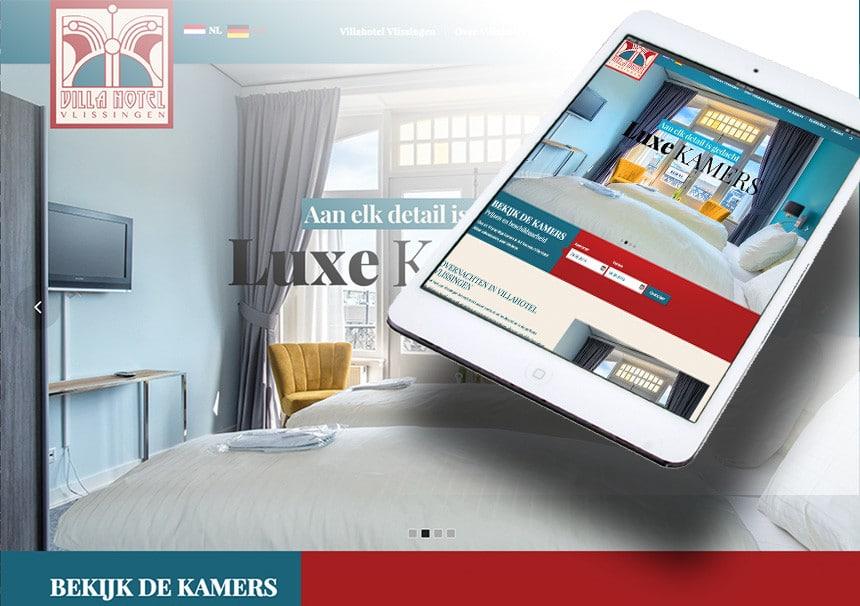 Website Villa Hotel door La Dolce Vita Grafische Ontwerp en marketing en webdesign uit Zeeland