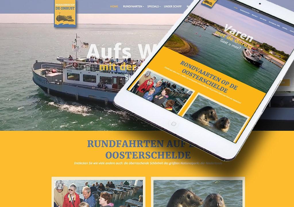 Website Passagiersschip De Onrust