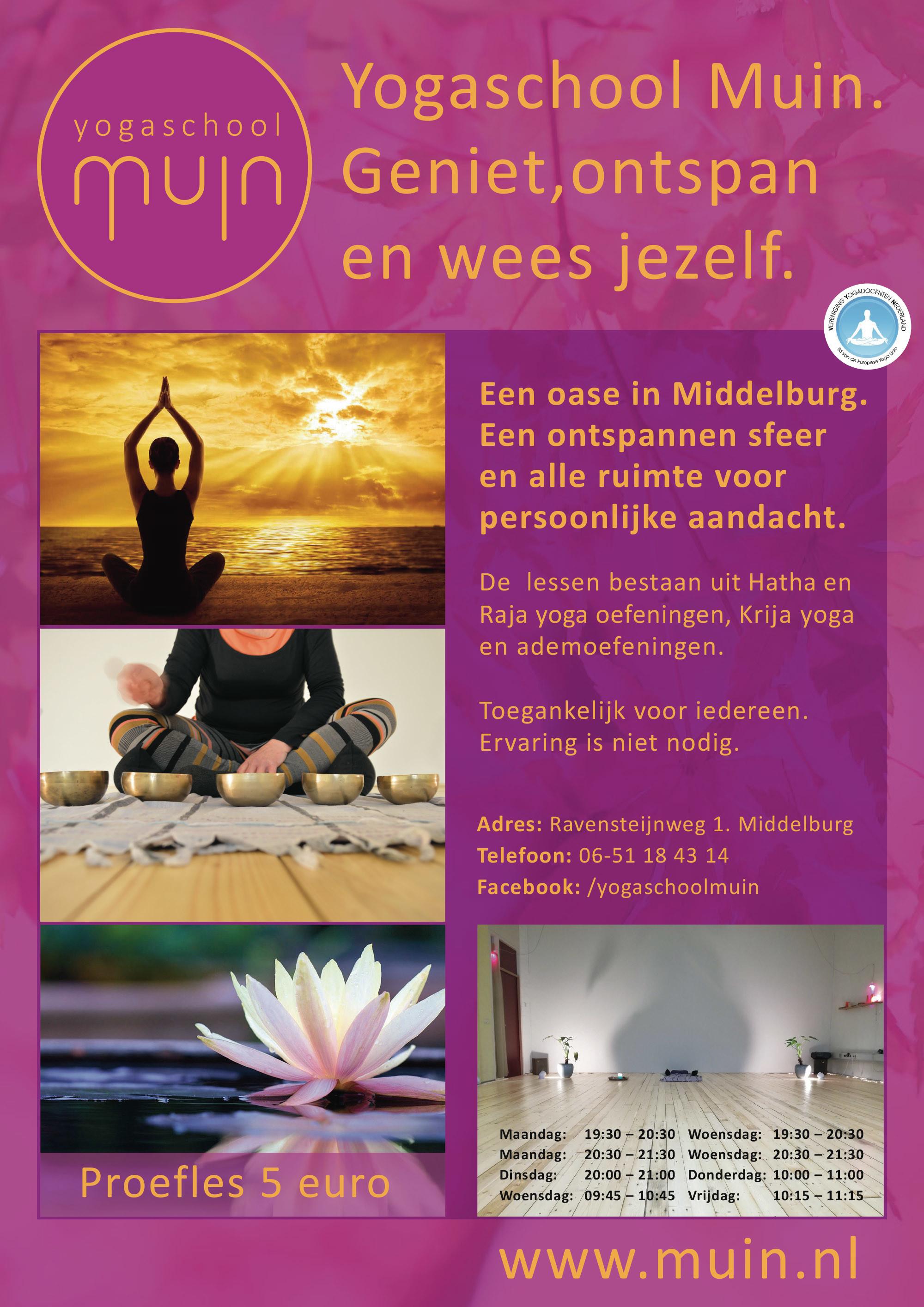 Styling Yogaschool Muin in Middelburg