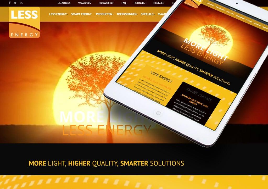 Een mooi project voor een mooi bedrijf: Less Energy website