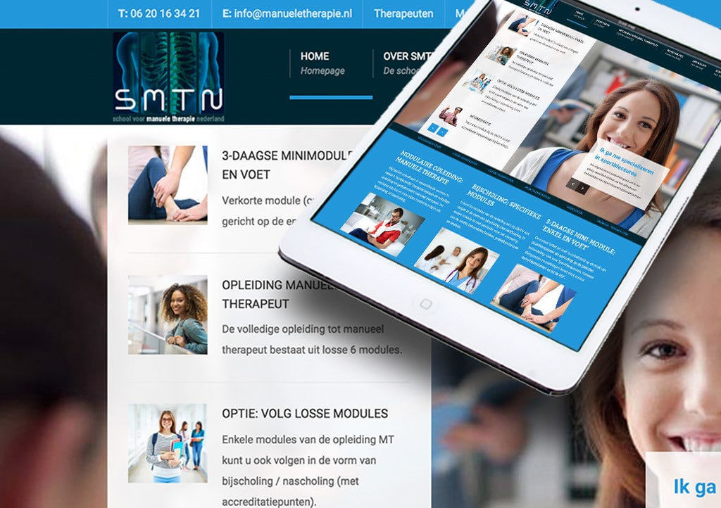Website SMTN – School voor manuele Therapie Nederland
